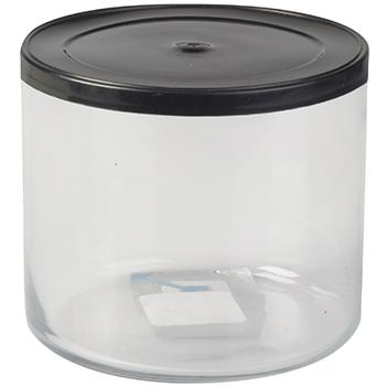 ظرف نگهداری مواد خشک شیشه ای 8.9 سانتی متری کان تپا