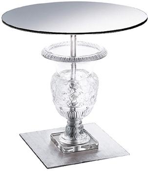 کنسول میز کریستال شفاف50  50X سانتی متری ورسای
