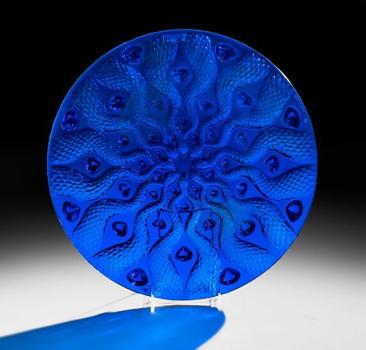 ظرف پذیرایی میوه کریستال آبی لاجوردی 38      9Xسانتی متری سرپنتین
