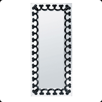 آینه مستطیل کریستال مشکی 65.5   151X سانتی متری رینسیوکس