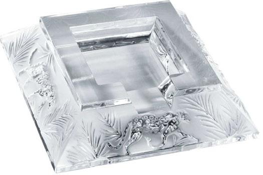 اقلام تزئینی زیرسیگاری کریستال شفاف16.5 16.5X سانتی متری جانگل