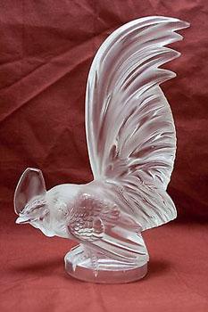 مجسمه خروس کریستال شفاف 7 13X سانتی متری روستر