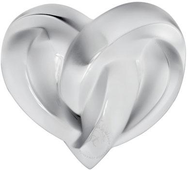 مجسمه قلب کریستال  شفاف14 6.5X سانتی متری