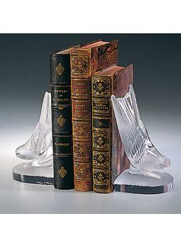 اقلام تزئینی نگهدارنده کتاب کریستال مات10  15.5Xسانتی متری سوالو