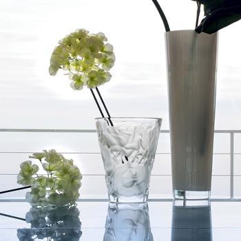 گلدان کریستال شفاف20 24Xسانتی متری اسپهان