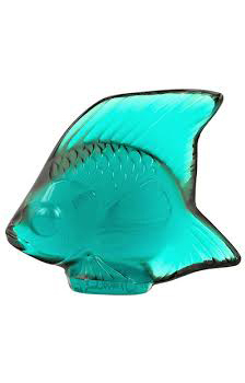 مجسمه ماهی کریستال فیروزه ای2.9 5.3X سانتی متری سیل
