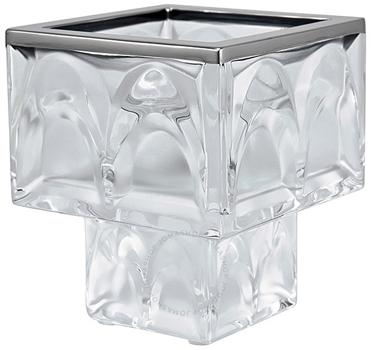 شمعدان کریستال شفاف7 9X  سانتی متری منهتن