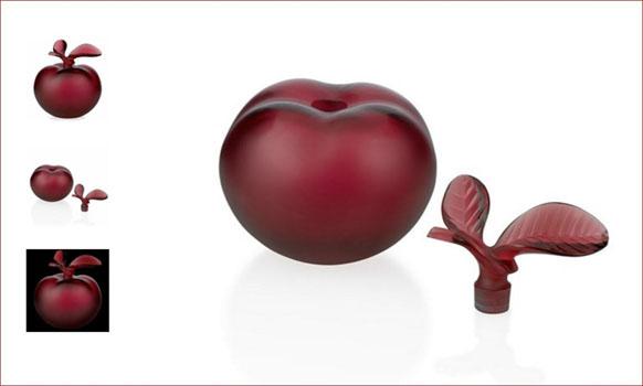 شیشه عطر کریستال قرمز  14.5  سانتی متری سیب سرخ