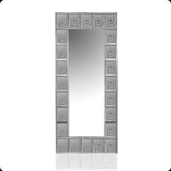 آینه مستطیل کریستال نقره ای144  64X  سانتی متری پرل