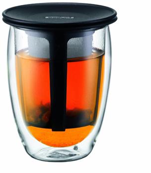 لیوان دوجداره شیشه ای با فیلتر 350 میلی لیتری