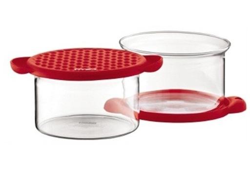 ست 2عددی ظرف نگهداری مواد خشک قرمز 250 میلی لیتری پات