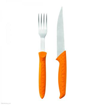 ست 2 عددی ابزار سرو نارنجی بیسترو