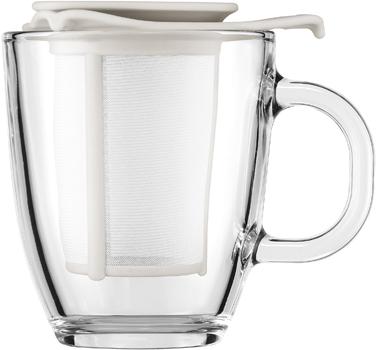 ست ماگ شیشه ای و چای صاف کن 350 میلی لیتری یویو