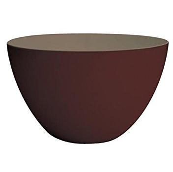 کاسه دورنگ -شکلاتی/طوسی 22 سانتی متری