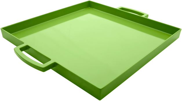 سینی مربع سبز 32x32 سانتی متری میمی پاپ