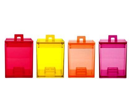 ست 4عددی ظرف نگهداری مواد خشک 200 میلی لیتری چند رنگ