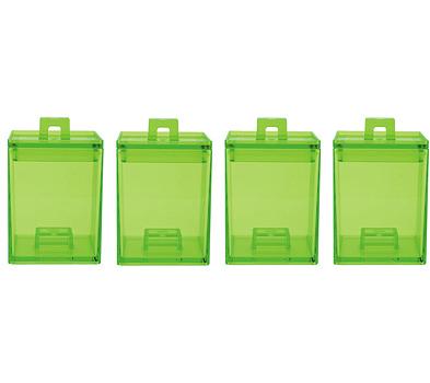 ست 4عددی ظرف نگهداری مواد خشک سبز 200 میلی لیتری