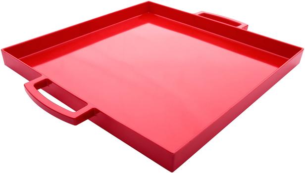 سینی مربع قرمز 32x32 سانتی متری میمی پاپ