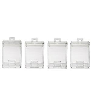 ست 4عددی ظرف نگهداری مواد خشک 200 میلی لیتری بی رنگ