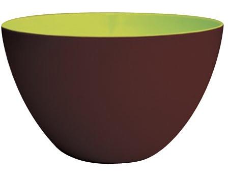 کاسه طوسی 28 سانتی متری شکلاتی/سبز