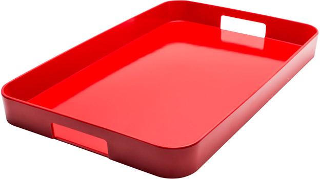 سینی ملامین قرمز 30.5x45.5 سانتی متری