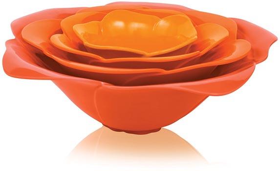 ست 4عددی کاسه نارنجی مینی رز