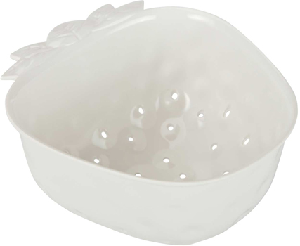 آبکش سفید 15 سانتی متری طرح توت فرنگی