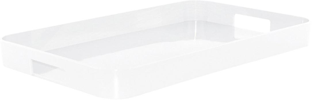 سینی مستطیل ملامین سفید 32.5x26 سانتی متری