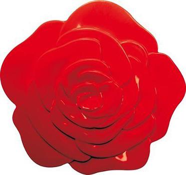 زیرقابلمه ای قرمز 15.5 سانتیمتری طرح گل رز