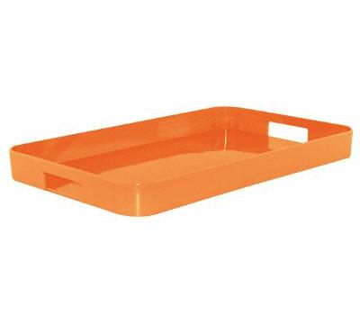 سینی مستطیل ملامین نارنجی 53.5x34.5 سانتی متری