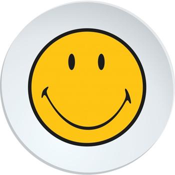 بشقاب سفید 25 سانتی متری لبخند
