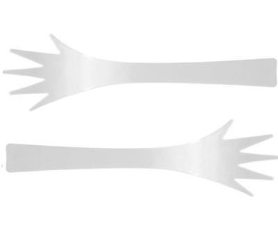ست 2 قاشق سرو پاستا وسالاد 32 سانتی متر سفید هلپینگ هندز{زک}