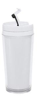 لیوان دوجداره ملامین سفید 400 میلی لیتری اپاک