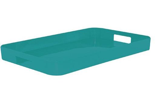 سینی فیروزه ای 34.5x53.5 سانتی متری گالری