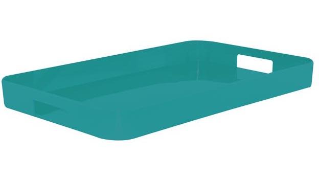 سینی فیروزه ای 26x32.5 سانتی متری گالری