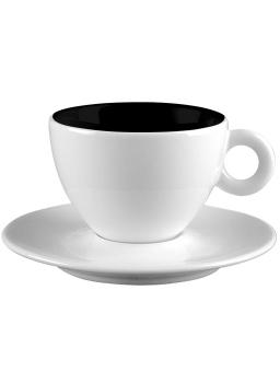 فنجان و نعلبکی سفید 100 میلی لیتری آلیس سفید و مشکی