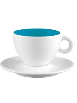فنجان و نعلبکی سفید 100 میلی لیتری آلیس سفید و آبی