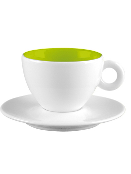 فنجان و نعلبکی سفید 100 میلی لیتری آلیس سفیدوسبز