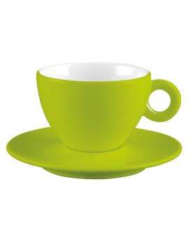 فنجان و نعلبکی سبز 100 میلی لیتری آلیس