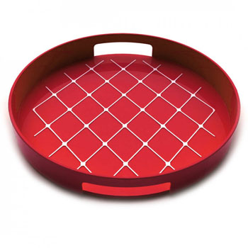 سینی گرد قرمز 30 سانتیمتری