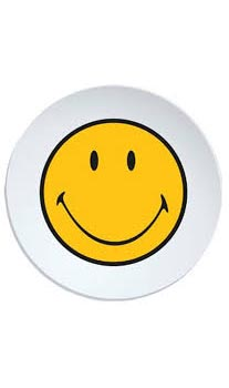 بشقاب سفید 20 سانتی متری لبخند