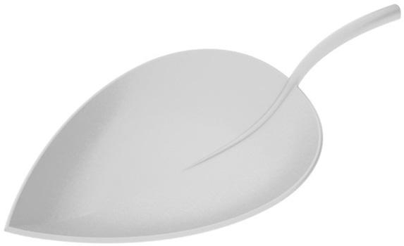 بشقاب سفید 19.5 سانتی متری برگ