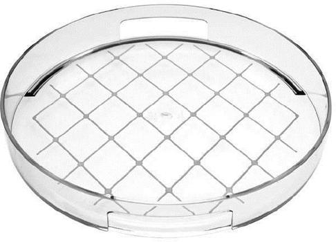 سینی لغزه گیردار ملامین شفاف خط سفید 30سانتیمتری گالری