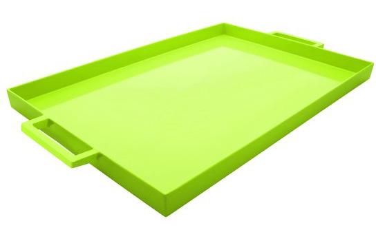 سینی مستطیل سبز روشن 43x29 سانتیمتری تیوی