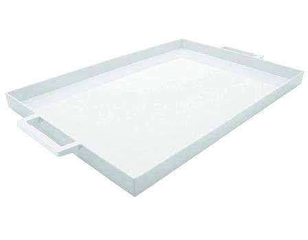 سینی مستطیل سفید 43x29 سانتیمتری تیوی