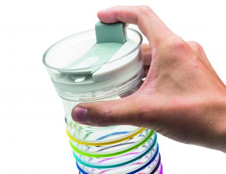 بطری آب دوجداره نشانه دار 480 میلی لیتری