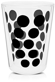 لیوان دوجداره شیشه ای مشکی 350 میلی لیتری