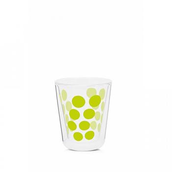 لیوان دوجداره شیشه ای سبز 200 میلی لیتری