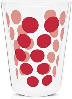 لیوان دوجداره شیشه ای قرمز 350 میلی لیتری