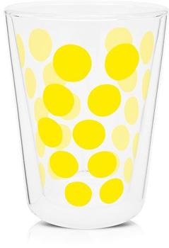 لیوان دوجداره شیشه ای زرد 350 میلی لیتری